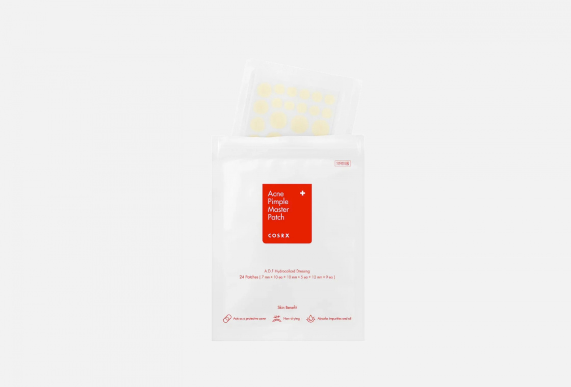 Стикеры локальные от прыщей COSRX Acne Pimple Master Patch