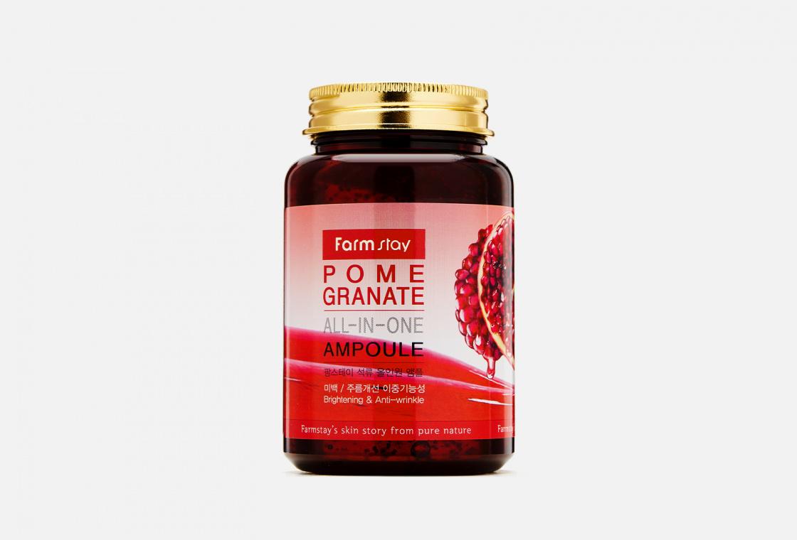 Средство многофункциональное ампульное с экстрактом граната Farm Stay Pomegranate ALL-IN ONE AMPOULE