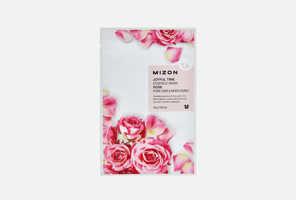 Тканевая маска для лица с экстрактом розы Mizon Joyful Time Essence Mask Rose