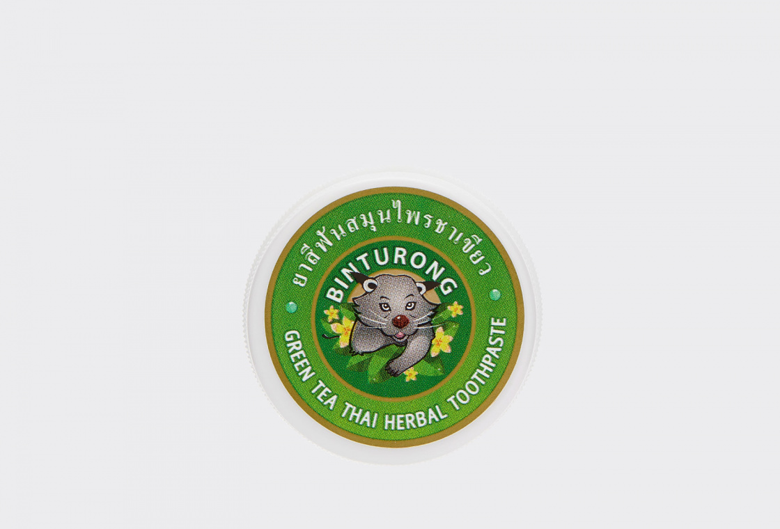 Зубная паста с Экстрактом Зеленого чая  Binturong Green tea Thai Herbal Toothpaste