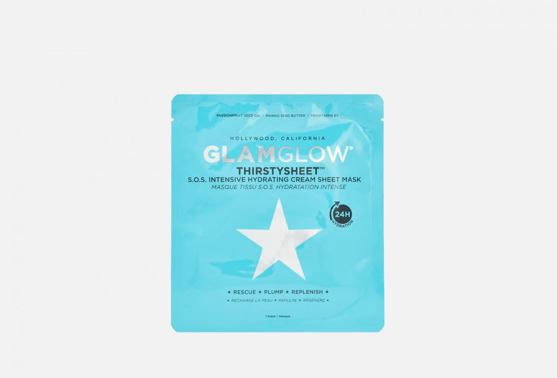 Увлажняющая Тканевая маска GlamGlow THIRSTYSHEET™ S.O.S. Intensive Hydrating Cream Sheet Mask