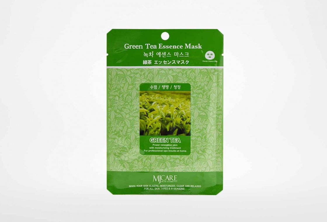 Маска тканевая зеленый чай Mijin Care Green Tea Essence Mask