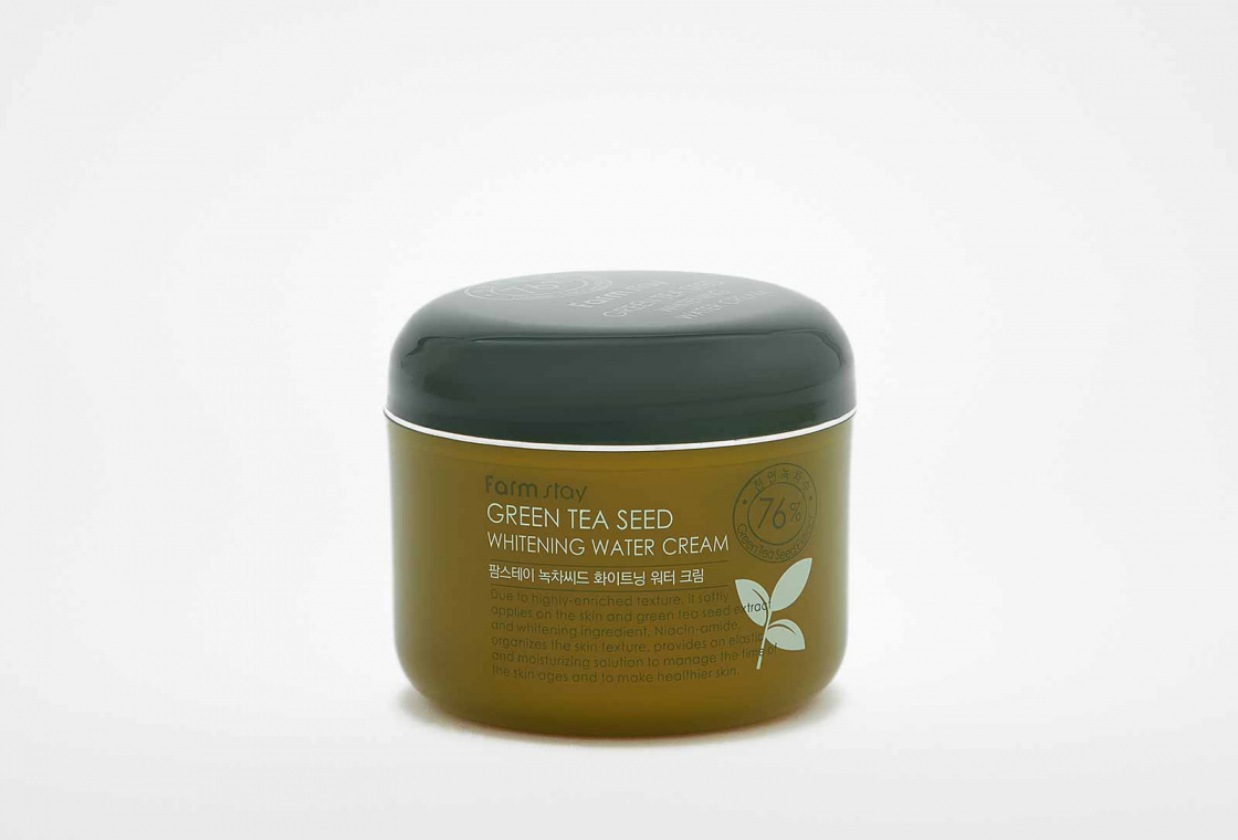 Крем с семенами зеленого чая Farm Stay Green Tea Seed Whitening Water Cream