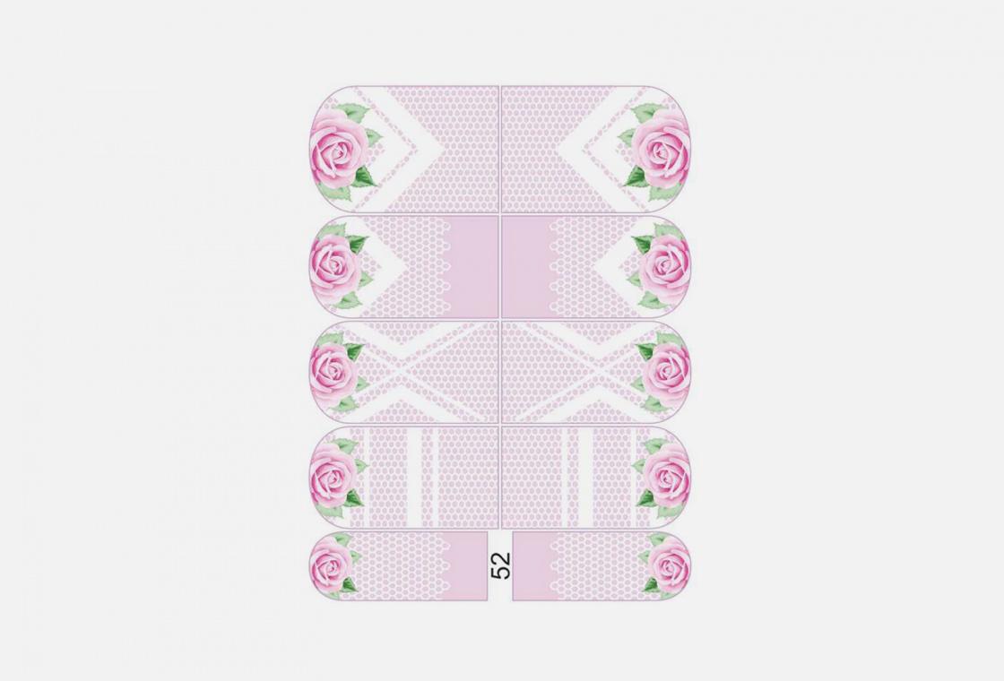 Слайдер-дизайн для ногтей Krimle 52