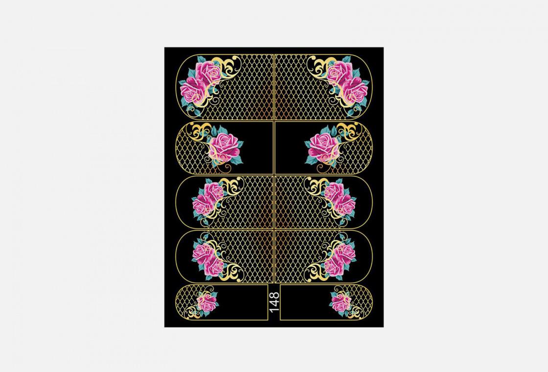 Слайдер-дизайн для ногтей Krimle 148