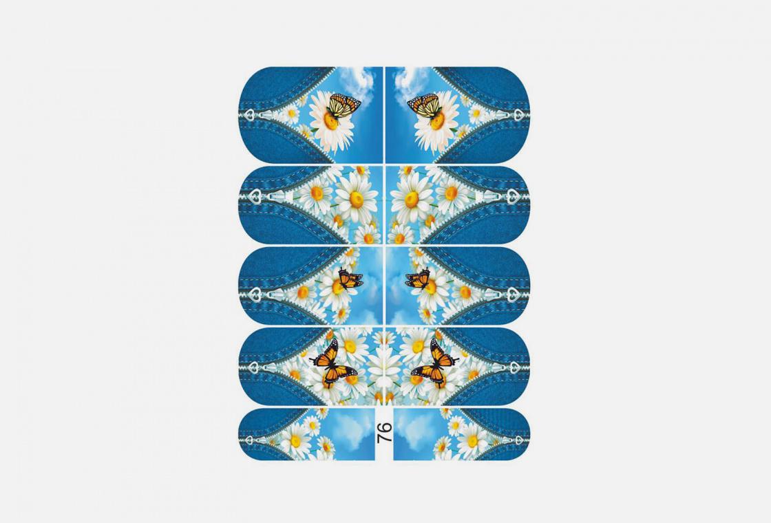 Слайдер-дизайн для ногтей Krimle 76