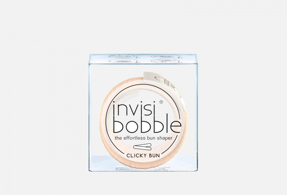 Заколка для волос 1шт. Invisibobble Clicky Bun To Be Or Nude To Be