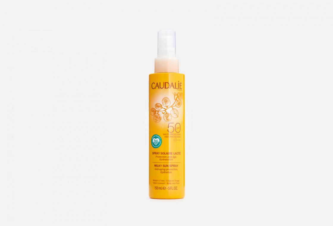 Солнцезащитное молочко-спрей для тела и лица SPF 50 Caudalie Solaire Milky Sun Spray